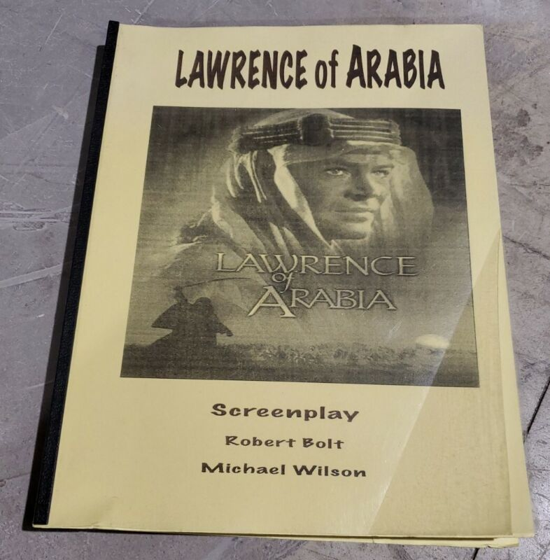 Lawrence of Arabia  Movie Script Screenplay by Robert Bolt