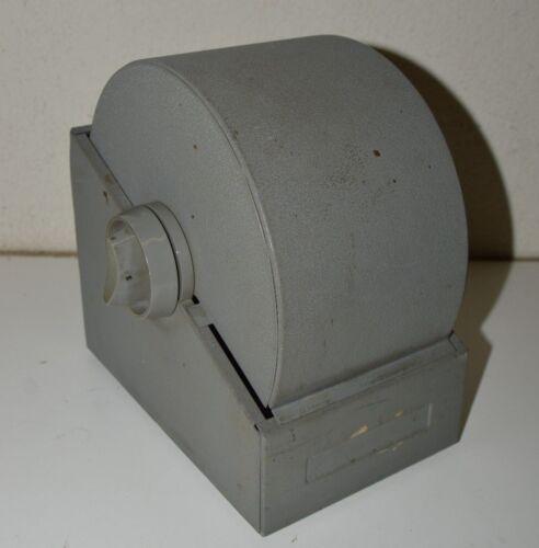 Large Mid Century Bates Rotary File Industrial Phone Adress ROLODEX Box Rare