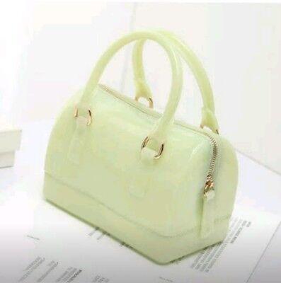 Women Silicone Small Jelly Handbag Candy Color Purse Mini Shoulder