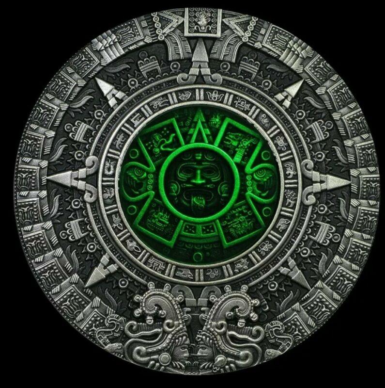 Niue - 2019 - Ancient Calendars - Aztec - Silver Coin