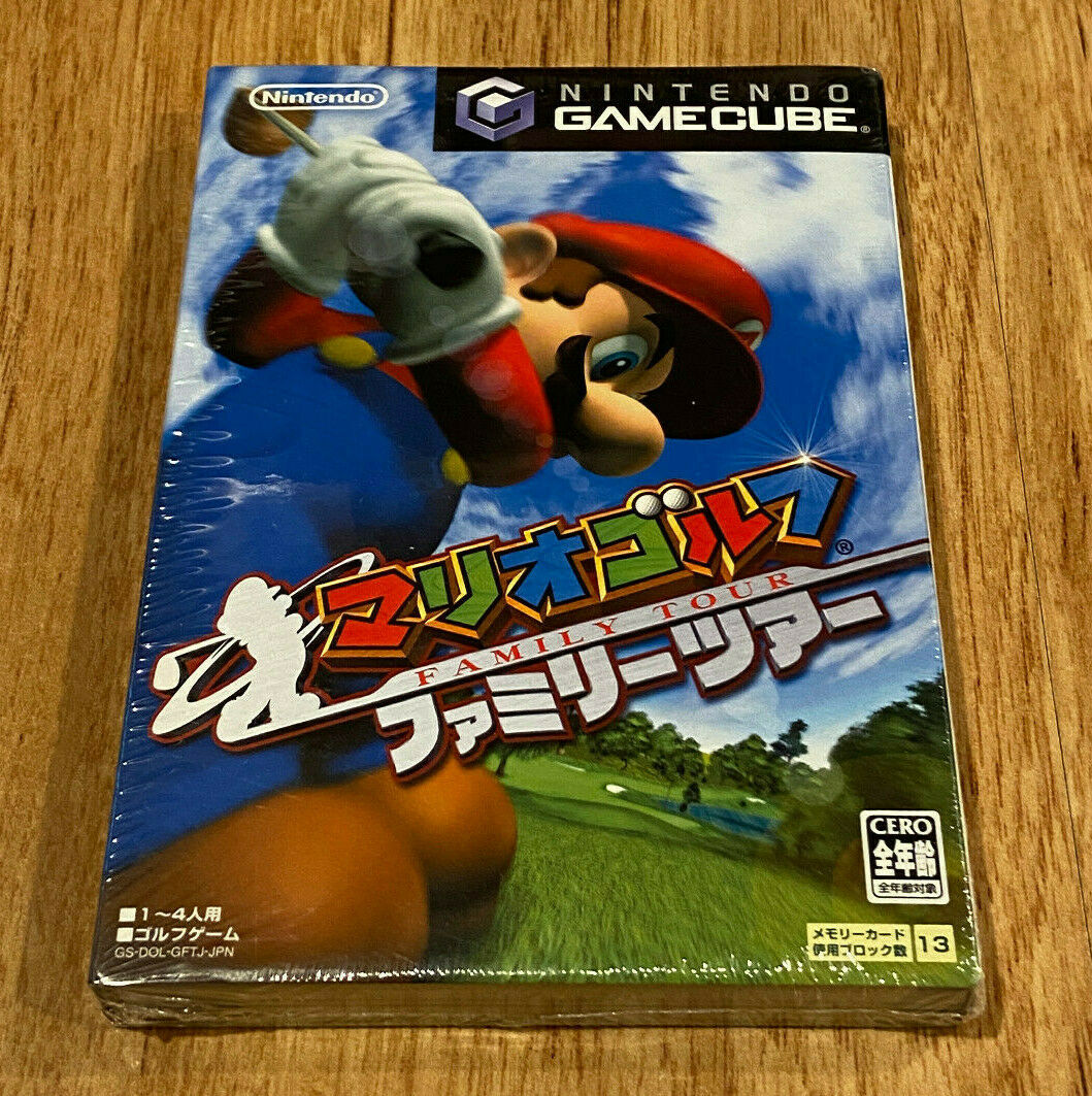 FOR JAPAN CONSOLES ONLY Nintendo GameCube, Mario Golf Family Tour NEW/SEALED - $49.00