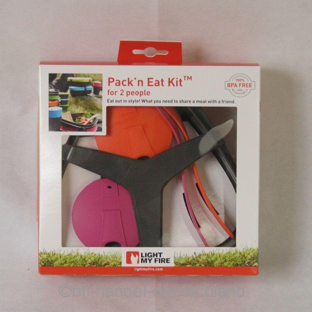 LIGHT MY FIRE Pack n Eat Kit Picknick Picnic Outdoor Zubehör Teller Göffel 8tlg