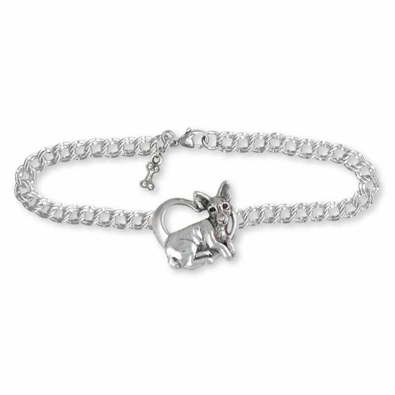 Rat Terrier Bracelet Jewelry Sterling Silver Handmade Dog Bracelet RTT1-B