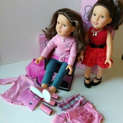 Chad Valley Design a Friend Doll - Olivia bundle - clothes, hairdresser, boxes