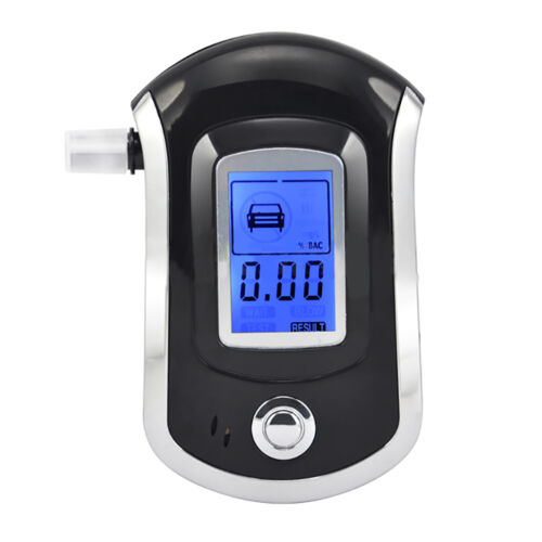 Digital LCD Police Breathalyzer Breath Test Alcohol Tester Analyzer Detector UK