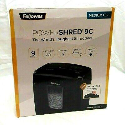 Fellowes 4775801 Powershred 9c Cross-cut Paper Shredder Free Shipping