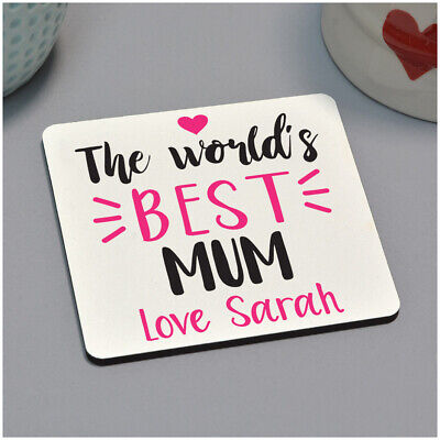 Personalised Worlds Best Mum Mummy Nan Drinks Coaster Mothers Day Gifts for