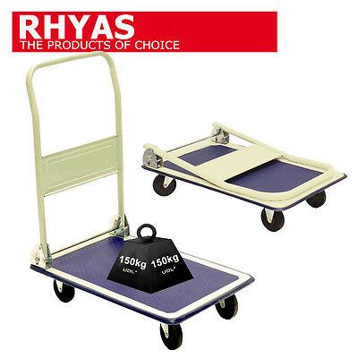 Rhyas Platform Trolley Cart Barrow 150kg Sack Truck Warehouse