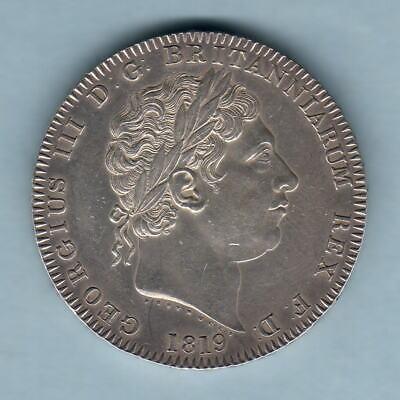 Great Britain. 1819 LIX - George 111 Crown.. gEF - Part Lustre