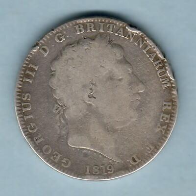 Great Britain. 1819 LIX - George 111 Crown.. VG