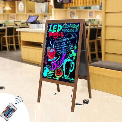 Led Wooden Framed Standing Chalkboard Cafe Coffee Sandwich Sign Board Blackboard