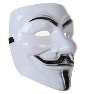V for Vendetta Maske Anonymus Demo Mask Weiß gebraucht kaufen  Deutschland