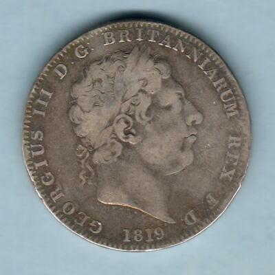 Great Britain. 1819 LIX - George 111 Crown.. aF/Fine.