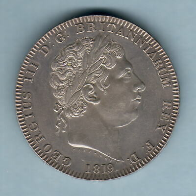Great Britain. 1819 LX George 111 - Crown.. aUNC - Much Lustre