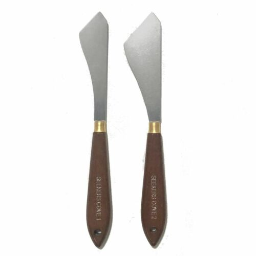 Palette Knives Set of 2 - Two Paint Knives - Art and Painting - Flat Edge Knife