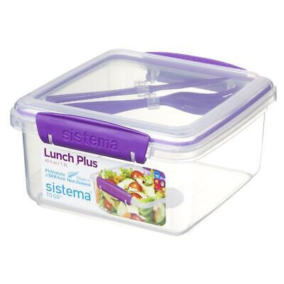 Sistema To Go Lunch Box Plus with Cutlery 1.2L Food Containe