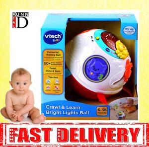 VTech Baby Crawl and Learn Lights Ball  White and Red Light Music and Sounds Toy