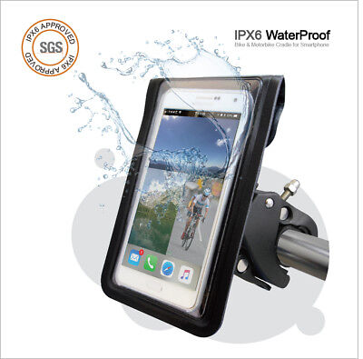 Digidock MT-1101BG Universal Cell Phone Cradle with Waterproof Pouch for Bikes,