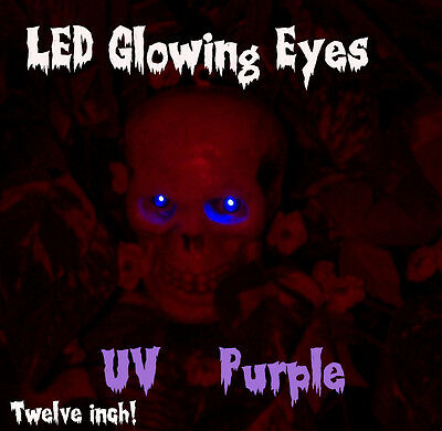 Led Glowing Eyes Halloween Uv Purple Blachlight 5mm 9 Volt Wide Angle 9v 12