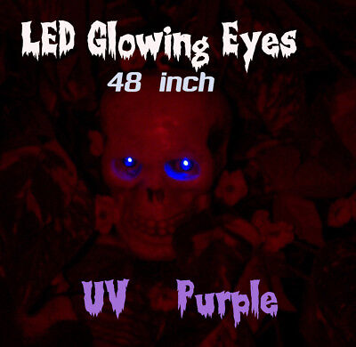 LED GLOWING EYES - HALLOWEEN UV 5MM 9V ON/OFF SWITCH  48 inch pigtail