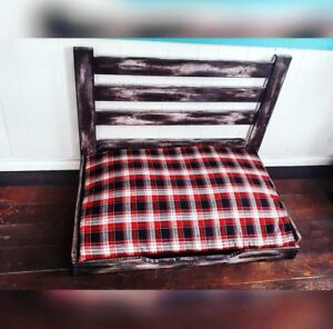 Custom Handcrafted Rustic Dog Bed!! Memory Foam!!!