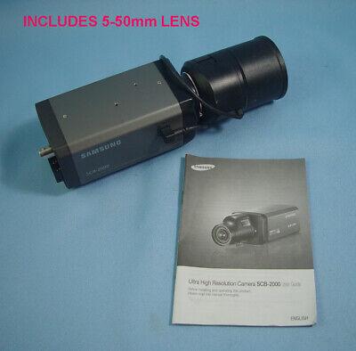 Samsung Scb-2000 Outdoorindoor Analog Cctv Camera Rainbow 5mm-50mm Lens