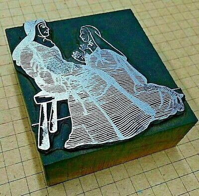 Nuns In Habit Letterpress Printer Block Kelsey Printing Press