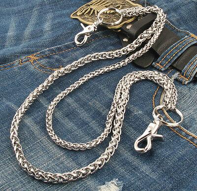"""Double Roof Durable Basic Biker Trucker Key Jean Wallet Chain (24"""") Silver NCS68"""