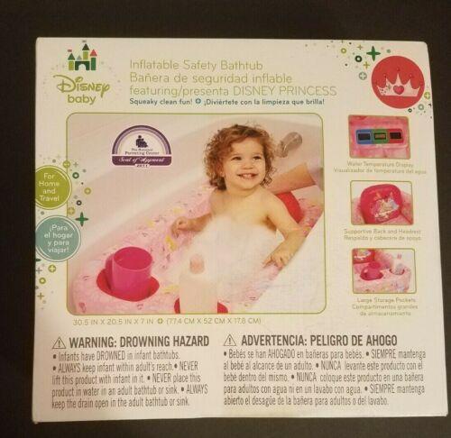 Disney Baby Princess Inflatable Safety Bathtub w/Water Temperature Display