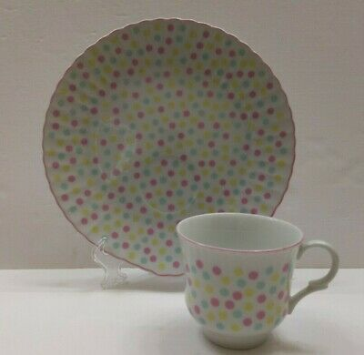 Taste Setter Snack Plate and Tea / Coffee Cup Polka Dot - Polka Dot Cups And Plates