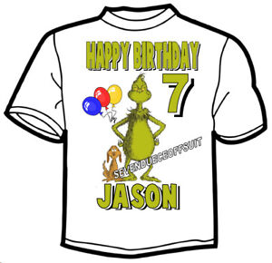73d664d6990 The Grinch T Shirt How The Grinch Stole Christmas Birthday Add Name And Age