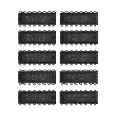 10 X Sn74hc595n 74hc595 Texas Instruments 8-bit Shift Registers