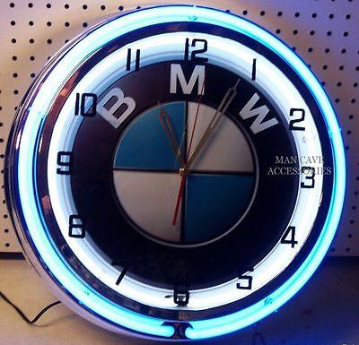 "18"" BMW Sign Double Neon Clock"