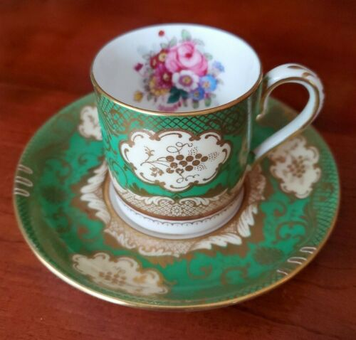 Crown Staffordshire Demitasse Cup & Saucer Set Fine Bone China