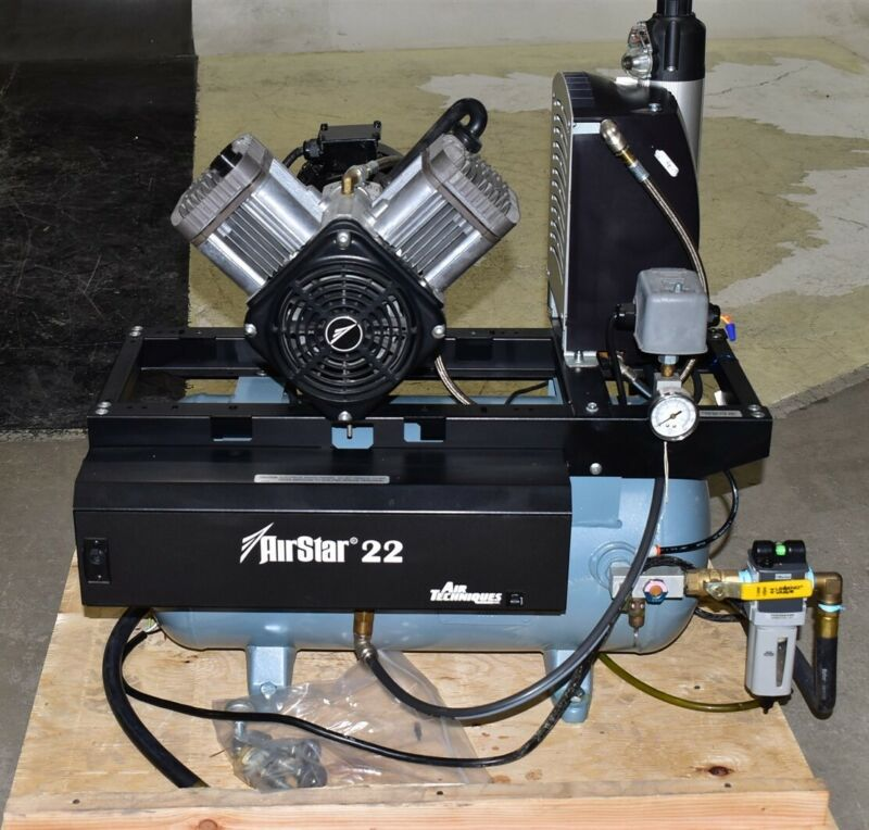 Air Techniques AS22M Dental Air Compressor REFURBISHED w/ 1 YEAR WARRANTY