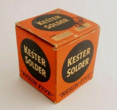 Vtg Kester Solder Resin Five Electrical 1 Lb Spool - Alloy 6040 - D .062 - Nos