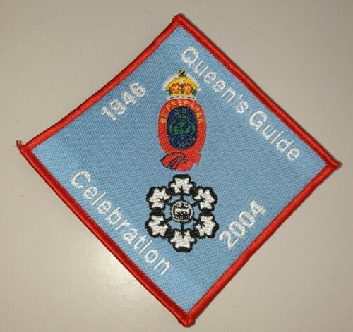 Q8 GIRL GUIDES BROWNIES RANGER RAINBOWS QUEENS GUIDE CELEBRATION BADGE 1946-2004