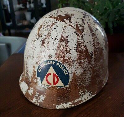 Civil Defense CD Auxiliary Police M1 helmet C8