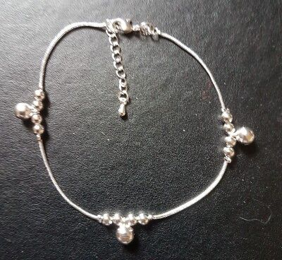 WHOLESALE 925 STERLING SILVER 3 BALL DROPS ANKLET / BRACELET INC FREE GIFTBOX.
