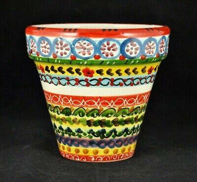 Artistico Vaso Sicilia portapianta in ceramica di Caltagirone