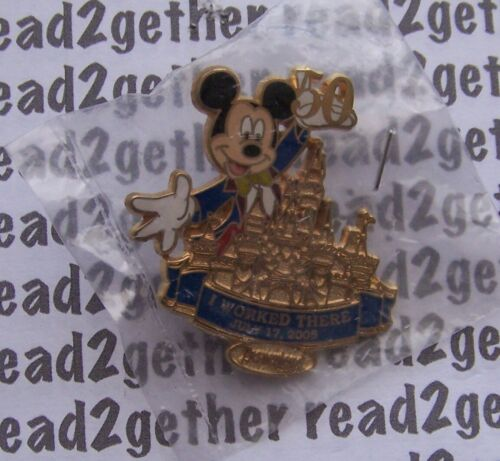Disney Pin DLR Cast Member Exclusive I Worked There 50th Anniversary Mickey