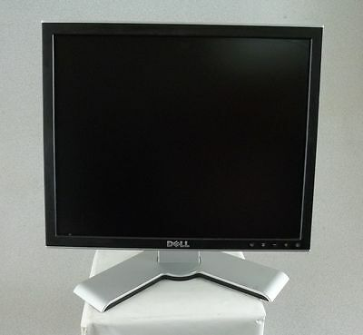 """DELL 1708FP SILVER 17"""" FLAT PANEL LCD COMPUTER MONITOR VGA & DVI FREE SHIP!"""