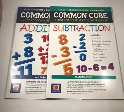 1st & 2nd Grade Workbooks for Addition & Subtraction - Common Core - NEW (Common Core 2nd Grade)
