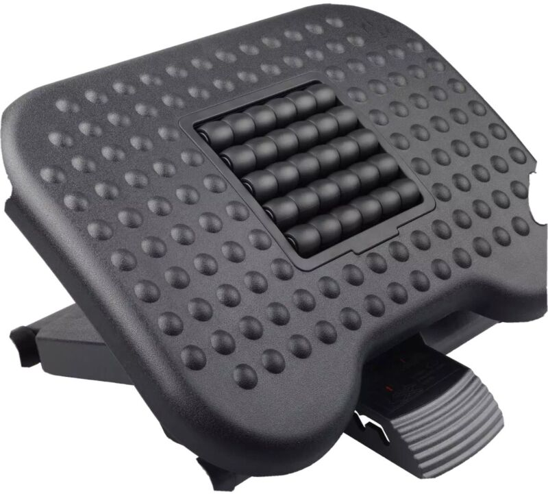 Huanuo Footrest Under Desk - Adjustable Foot Rest With Massage Texture And Rolle