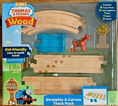 NEW Thomas & Friends Wood Straights and Curve Track Pack - NIB