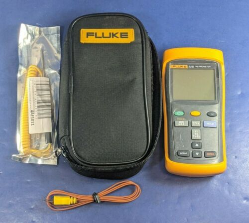 Fluke 52 II Thermocouple Thermometer, Very Good, Screen Protector, Soft Case