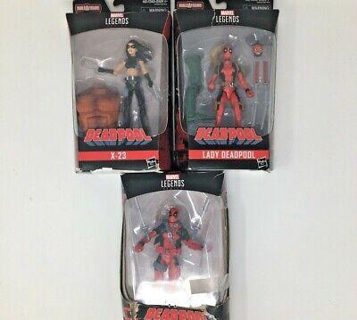 Hasbro, Marvel Legends Lot, Deadpool, X-23, Lady Deadpool, 6 Inch