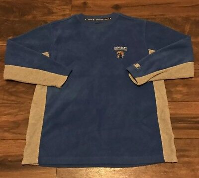 VINTAGE TEAM STARTER UNIVERSITY KENTUCKY WILDCATS FLEECE PULLOVER SWEATER SZ L
