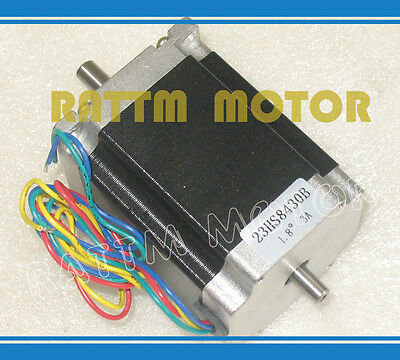 Nema 23 Dual Shaft Stepper Motor 76mm 270oz-in 1.8n.m 4 Lead 3a For Cnc Router