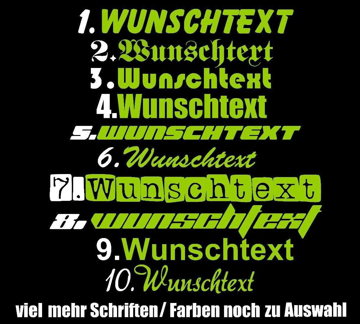 15cm Wunschtext Name Aufkleber Schriftzug Schrift Geburtstag selbst gestalten TV